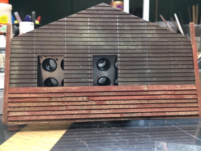 started siding rear wall
